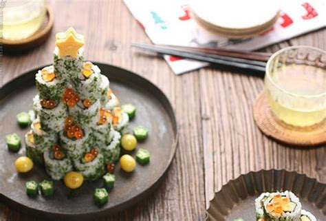 artistic sushi rolls edvard munch inspired food art from