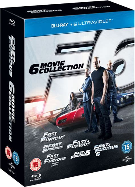 fast and furious box set 1 6 fast and furious the 6 movie collection includes