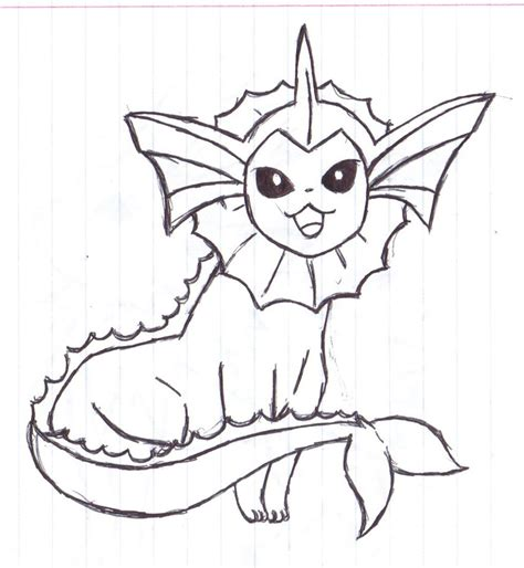 pokemon coloring pages vaporeon eeveelution vaporeon by alfred martini pines on deviantart
