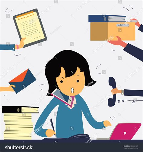 Busy Busy Doing Lots Of Writing Lots Of Shoppin by Busy Business Working Stock Vector