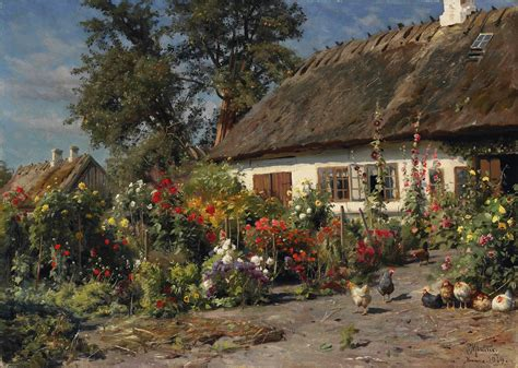 Cottage Garden Paintings by File Peder M 248 Nsted A Cottage Garden With Chickens Jpg Wikimedia Commons