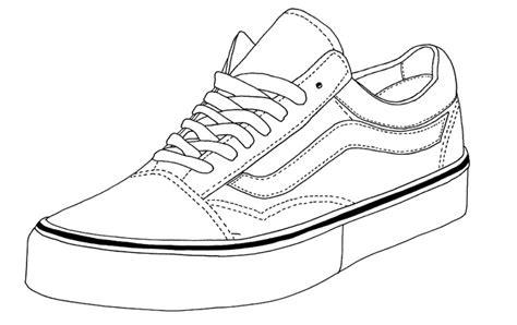 vans shoes coloring page vans old skool footwear templates pinterest vans