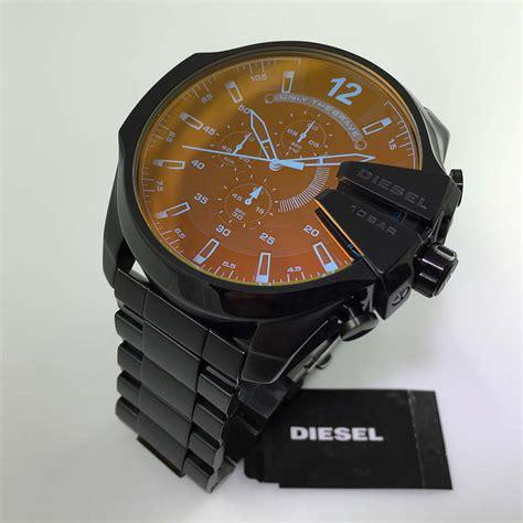 Black Diesel Mega Chief XL Big Chronograph Watch DZ4318
