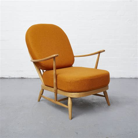 upholstery company abraham moon sons on a vintage ercol windsor chair