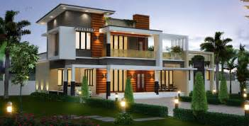 Front Sloping Lot House Plans 2300 sq ft kerala model house architecture amazing