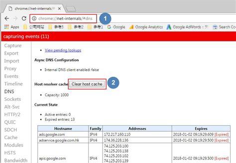 chrome dns cache top 4 ways to clear or disable google chrome dns cache