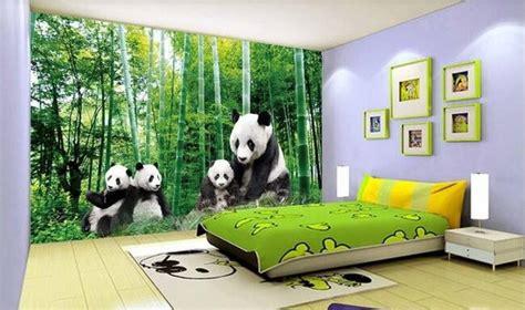 panda wallpaper for bedroom adorable 3d panda wallpaper wall mural panda bears bamboo