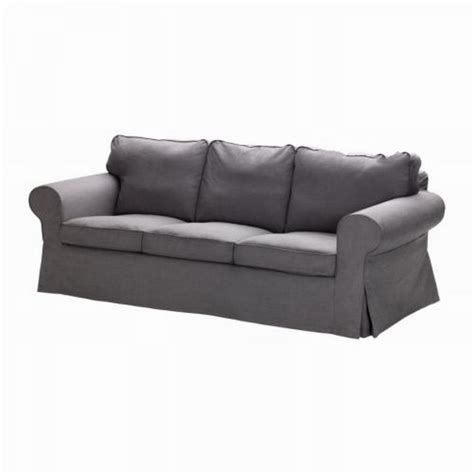 Ikea Ektorp 3 Seat Sofa Slipcover Cover Svanby Gray Grey Covers For Ikea Ektorp Sofa