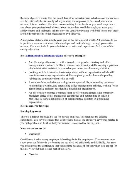 career objectives for administration free resume builder resume builder part 4 misc
