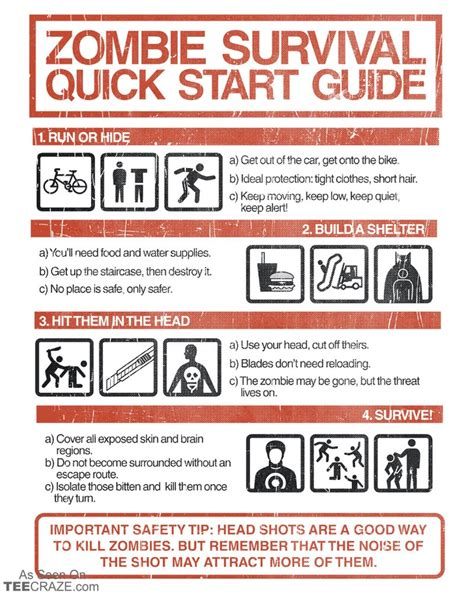 the zombie apocalypse survival guide for teenagers 1115 best zombie t shirts images on pinterest zombie