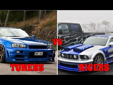 ricer vs tuner tuners vs ricers top 5 differences