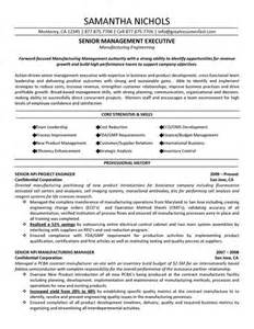 Resume Samples Pdf 2015 by Senior Management Executive Manufacturing Engineering