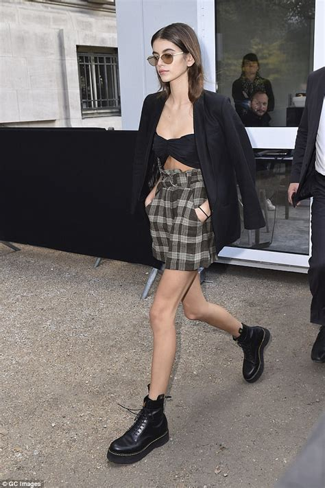 kaia gerber shoes kaia gerber and cindy crawford together in paris shoes post