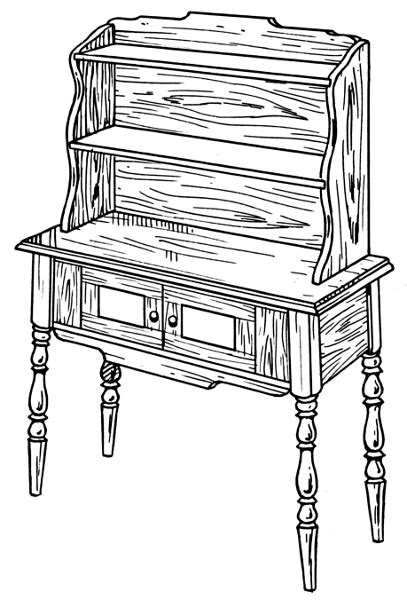 coloring page of a dresser dresser coloring page www imgkid com the image kid has it