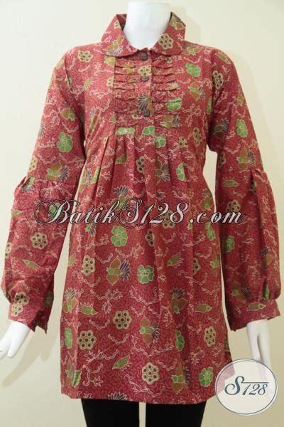 Aneka Dress 95000 blus wanita lengan panjang batik motif burung cuwiri bls1438p l toko batik 2018
