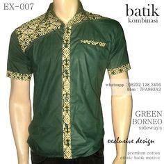 Kemeja Ethnic Horizontal Green Hijau green kanoman clothes and fashion