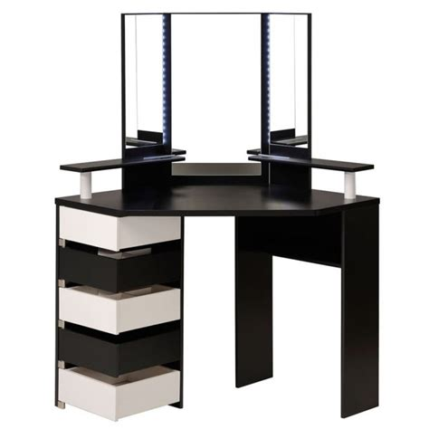 Small Corner Vanity Table Corner Vanity Table With Mirror Shelby