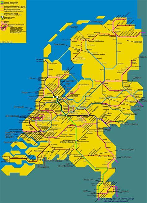 netherlands ns map carte des pays bas cartes du relief villes