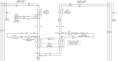 single phase changeover switch contactor wiring diagram