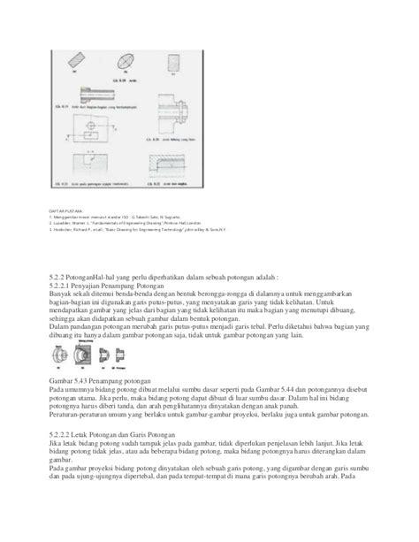 Menggambar Mesin Menurut Standar Iso Hvs gambar teknik pemotongan gambar part 2