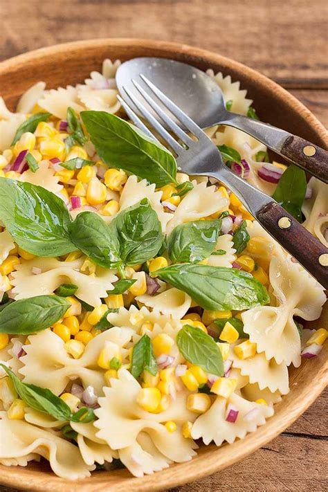 delicious pasta salad fresh corn pasta salad foodal