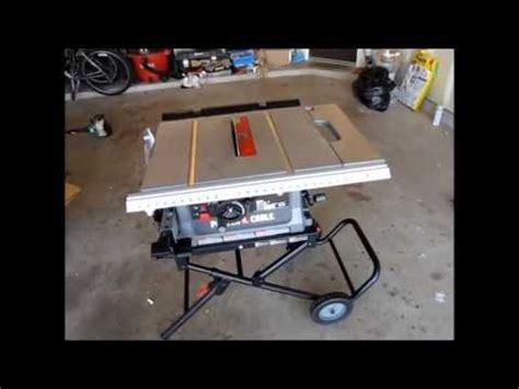 porter cable table saw pcx362010 diy tools series porter cable pcb220ts table saw youtube