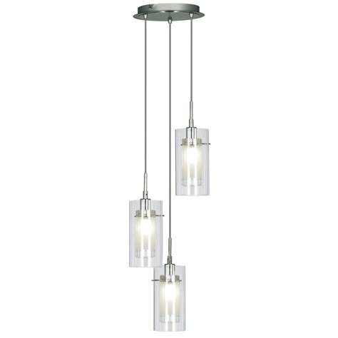 3 Light Pendants Searchlight 2300 3 Duo 1 3 Light Polished Chrome Ceiling Pendant