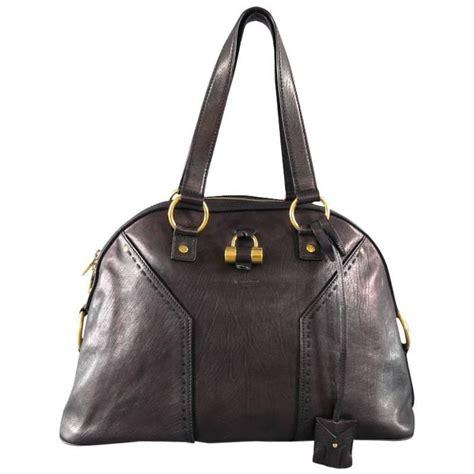 Yves Laurent Felt Muse Handbag by Yves Laurent Ysl Muse Black Brown Leather Tote