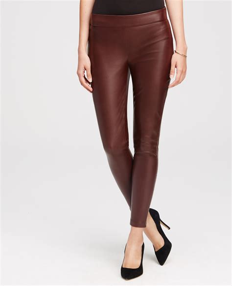 Legging Brown 28 31 faux leather in brown lyst