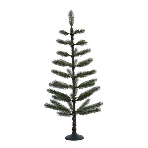 vickerman 379158 4 x 20 quot green feather christmas tree