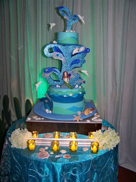 quinceanera themes under the sea under the sea beach quincea 241 era party ideas photo 12 of