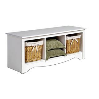 winslow white cubbie storage bench by prepac entry ways
