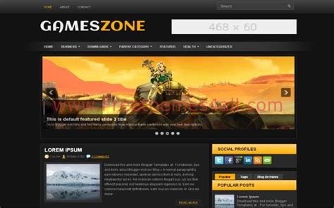 black yellow games blogger theme download