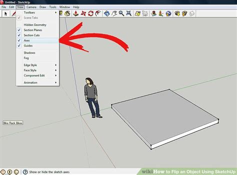 sketchup layout rotate view how to flip an object using sketchup 5 steps with pictures