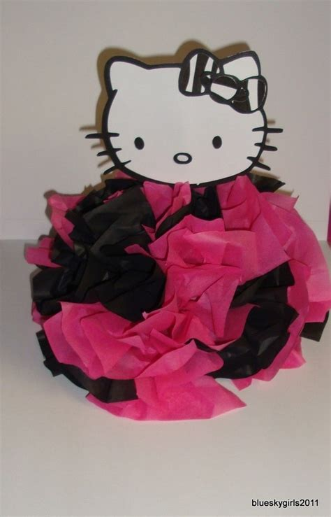 Easy To Make Centerpiece Kitty Cat Hello Pinterest Hello Centerpieces For Birthday