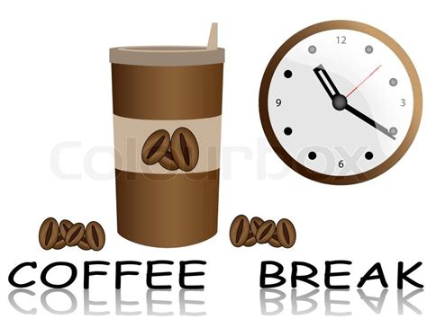 Coffee in disposable cup vector coffee break   Stock