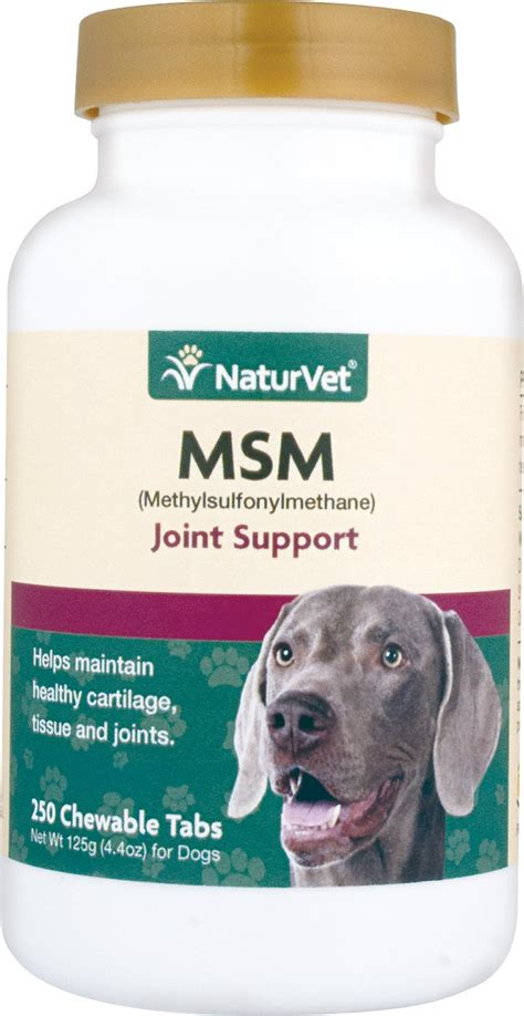 msm for dogs naturvet msm methylsulfonylmethane tablets for dogs 250 count chewy