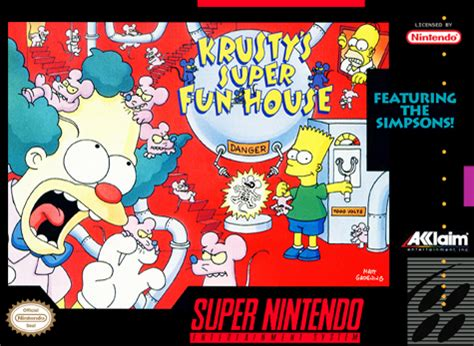 krusty s fun house play krusty s super fun house nintendo super nes online play retro games online at