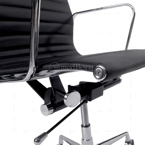 eames office chair high back ribbed leather white ea119 eames style office chair high back ribbed black leather replica