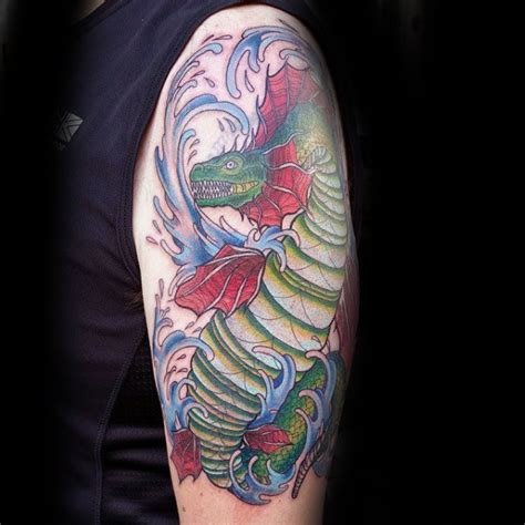 lake monster tattoo 30 loch ness designs for mythological