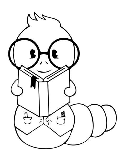 coloring pages book worm free coloring pages of book worm