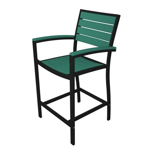 Counter Height Arm Chair by Polywood Counter Height Outdoor Arm Chair Black