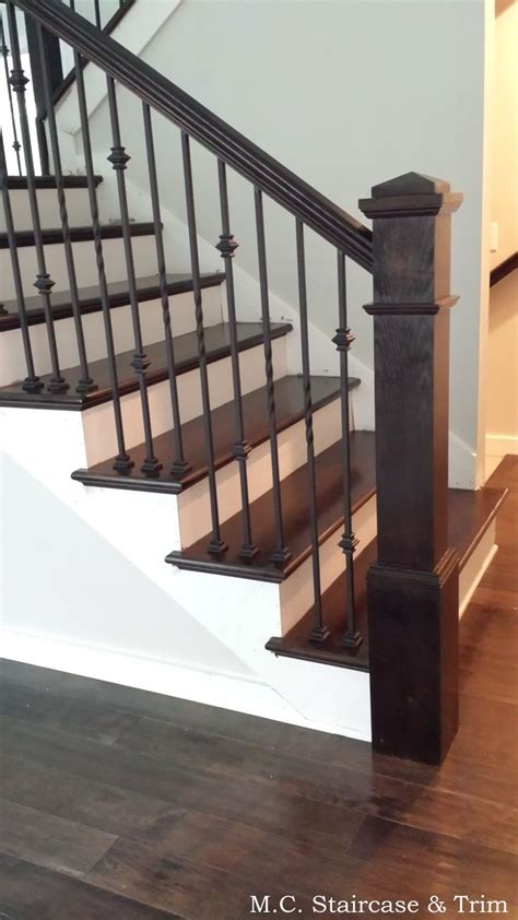Wooden Banister Rails by Staircase Remodel From M C Staircase Trim Removal Of