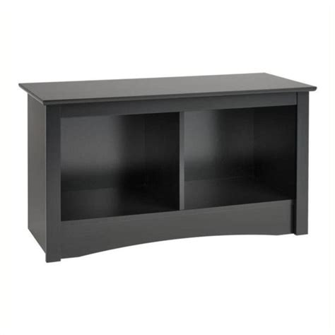 black cubbie bench hawthorne collections 2 cubby bedroom bench in black hc 8635