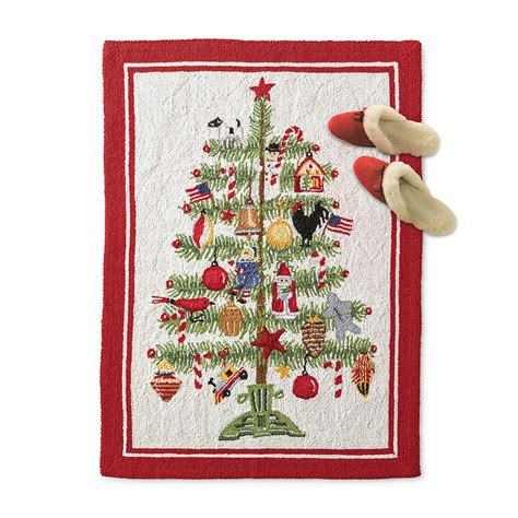 christmas tree hooked rug gump s