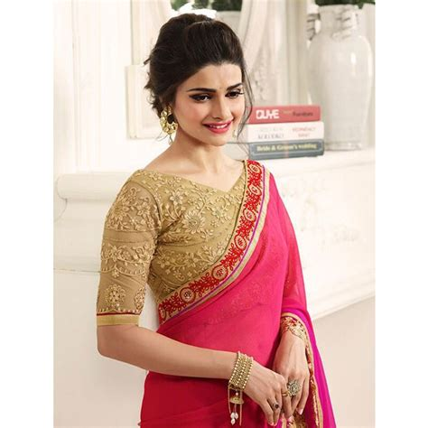 Anget Sari Jahe Inner Box rani color designer beautiful chiffon saree with blouse grab and pack