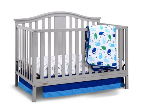 Graco Crib Mattress Size Graco Solano 4 In 1 Convertible Crib And Bonus Mattress Pebble Gray
