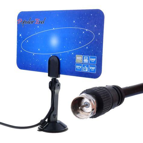 high quality digital indoor tv antenna hdtv dtv box ready hd vhf uhf flat design high gain 29 in