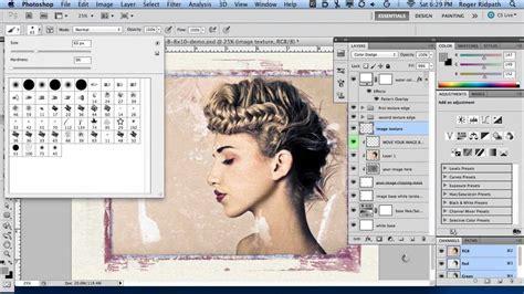photoshop template video tutorials ps brushes tutorial polaroid transfers grunge border