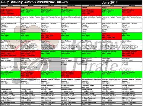 Busch Gardens Crowd Calendar Disney World Crowd Calendar Park Hours June 2014